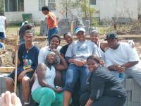Gospel Choir members working at one of their service projects