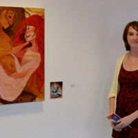 Senior fine arts major wins emerging artist award