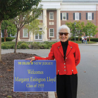 The indefatigable Peggy Lloyd '35