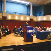 Phi Beta Kappa chapter installed at TCNJ; first class of students inducted