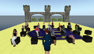 Using Second Life, Hu Opens Up a New World of Communication to her Students