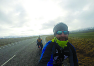 Rooney (foreground) and Ziegler in South Island, New Zealand.