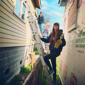 Members of TCNJ's Alternative Break Club painted homes in New Orleans last spring.