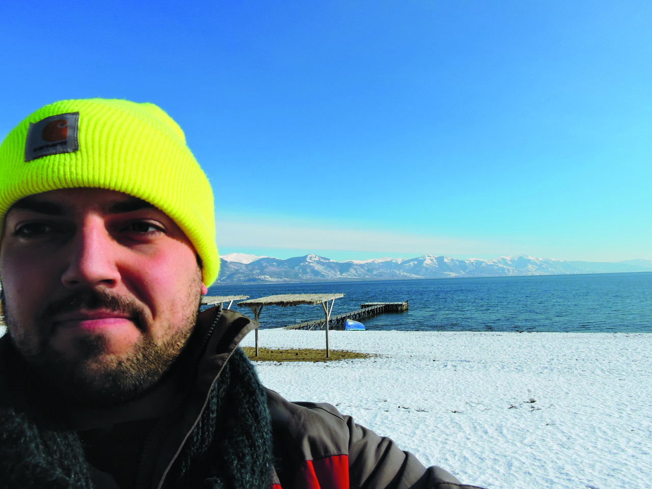 His first career: Hotelier in Macedonia. Beach included.
